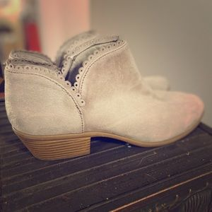 Charlotte Russe suede ankle boots